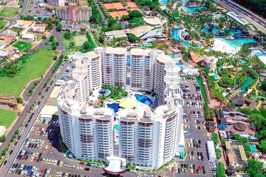 Foto aérea do Wyndham Olímpia Royal Hotels